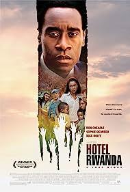 Don Cheadle, Nick Nolte, Joaquin Phoenix, Mosa Kaiser, Sophie Okonedo, Ofentse Modiselle, and Mathabo Pieterson in Hotel Rwanda (2004)