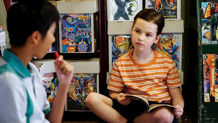 Joven Sheldon 1×04 – Un terapeuta, un cómic y una salchicha de desayuno