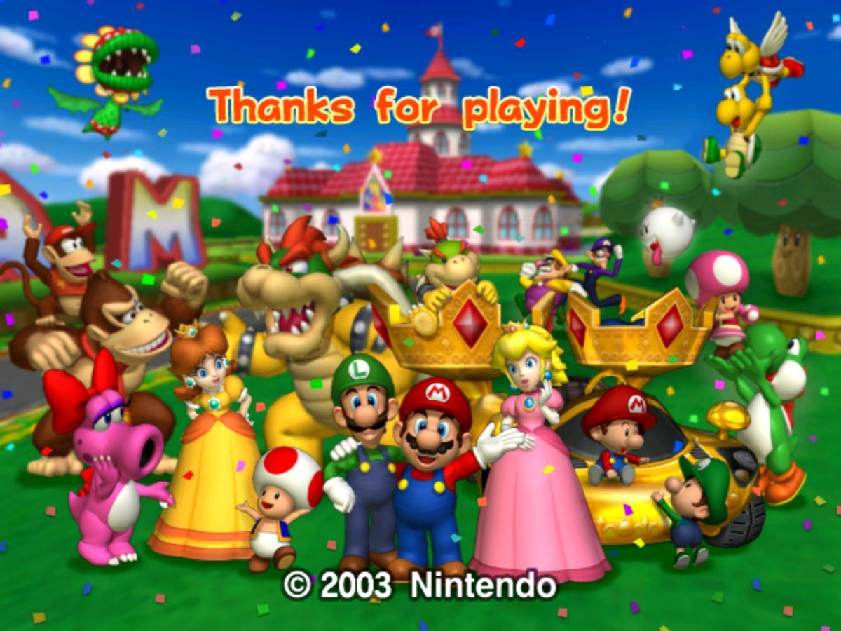 Christmas Mario Kart.Mario Kart Double Dash 2003