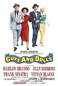 Marlon Brando, Frank Sinatra, Jean Simmons, and Vivian Blaine in Guys and Dolls (1955)