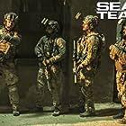 David Boreanaz, Neil Brown Jr., A.J. Buckley, and Tyler Grey in SEAL Team (2017)