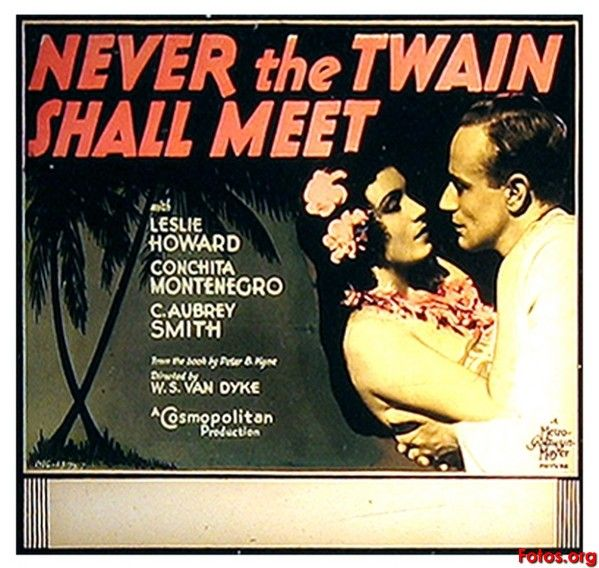 Leslie Howard and Conchita Montenegro in Never the Twain Shall Meet (1931)