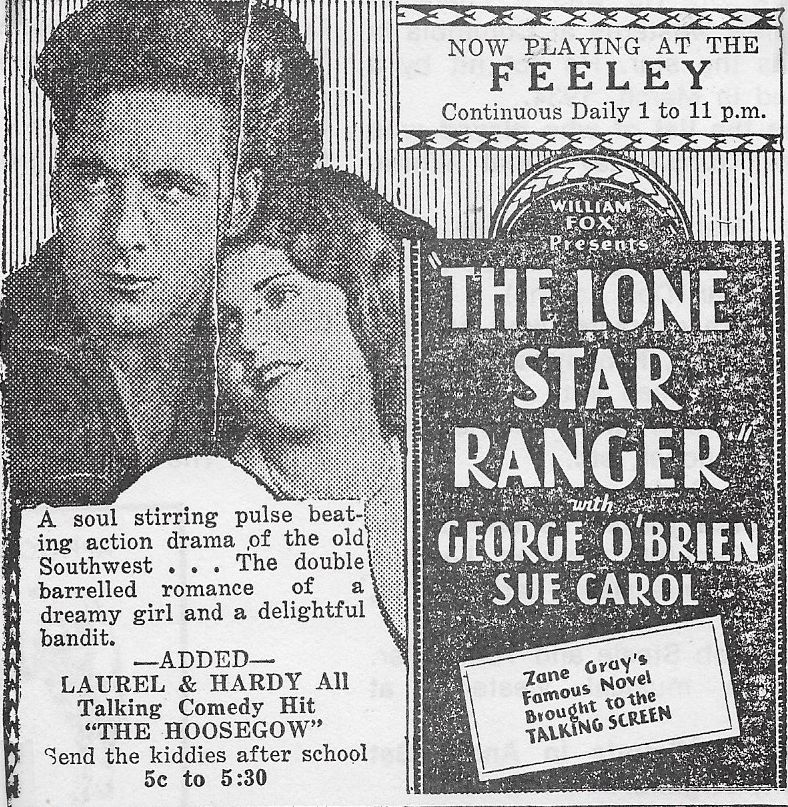 Sue Carol and George O'Brien in The Lone Star Ranger (1930)