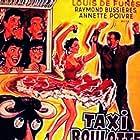 Louis de Funès, Guy Bertil, Raymond Bussières, Annette Poivre, and Sophie Sel in Taxi roulotte et corrida (1958)