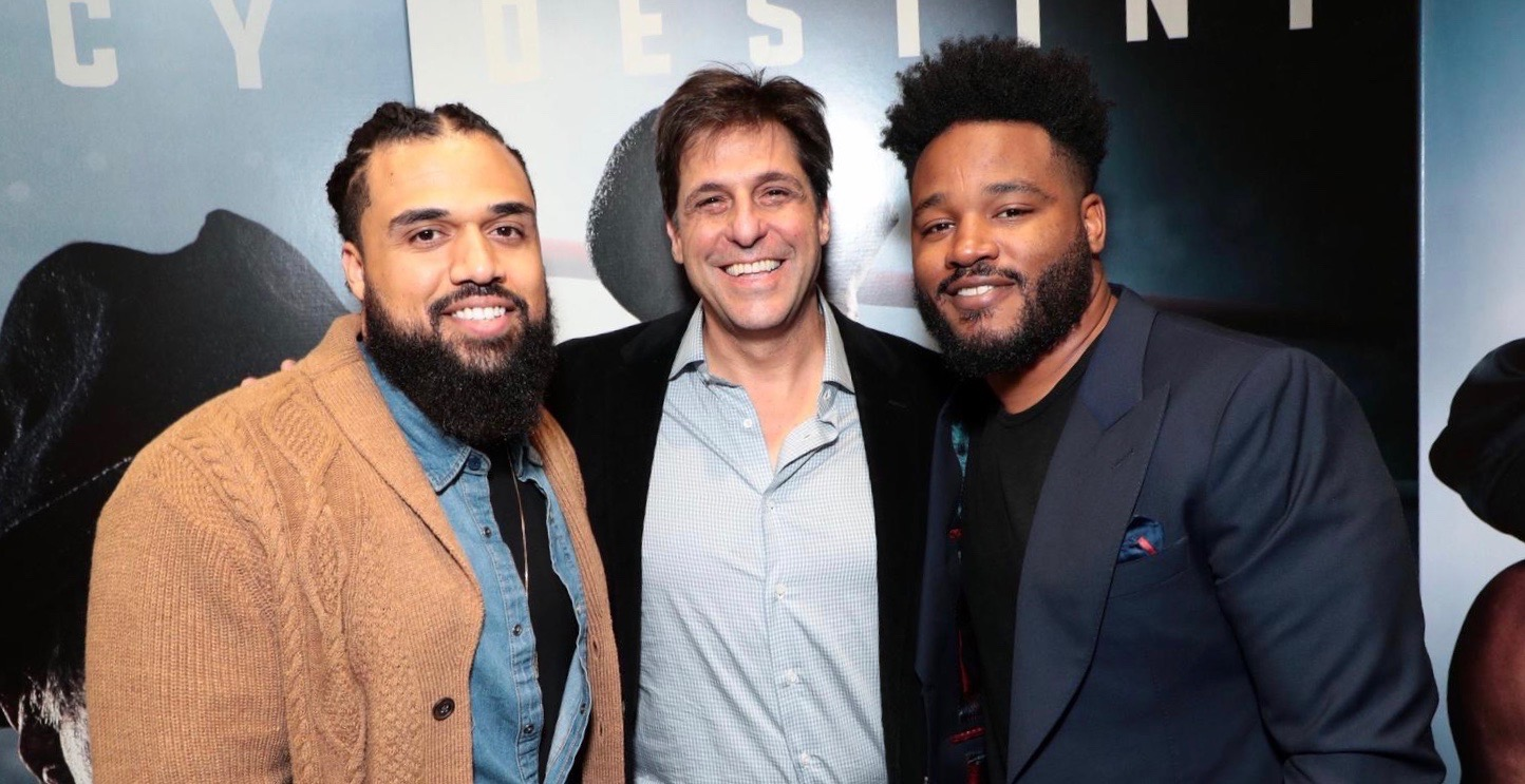 Director Steven Caple, Jr (left),  Jonathan Glickman (middle) and Ryan Coogler (right) MGM special film screening of 'Creed II', Los Angeles, USA - 19 Nov 2018