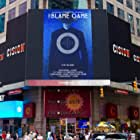 The Blame Game starring Matthew Grant Godbey billboard in New York's Times Square