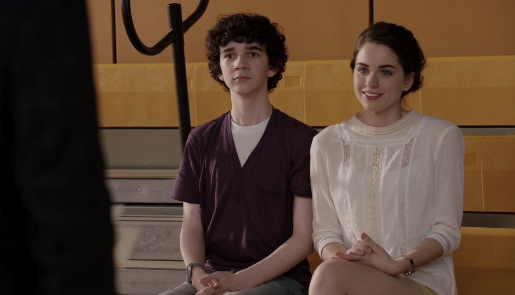 Zach Mills and Sarah Desjardins in Clue (2011)