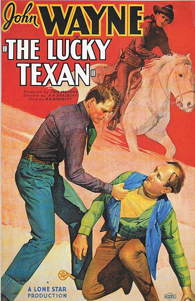John Wayne and Eddie Parker in The Lucky Texan (1934)
