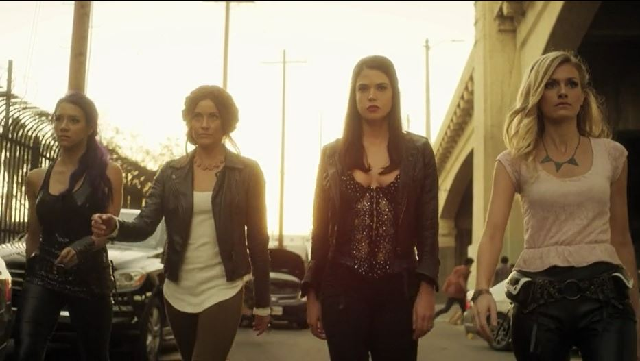 Rileah Vanderbilt, Lauren Parkinson, Milynn Sarley, and Marah Fairclough in Avengers Grimm (2015)