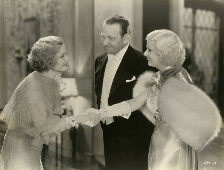 Wallace Beery, Billie Burke, and Jean Harlow in Dinner at Eight (1933)