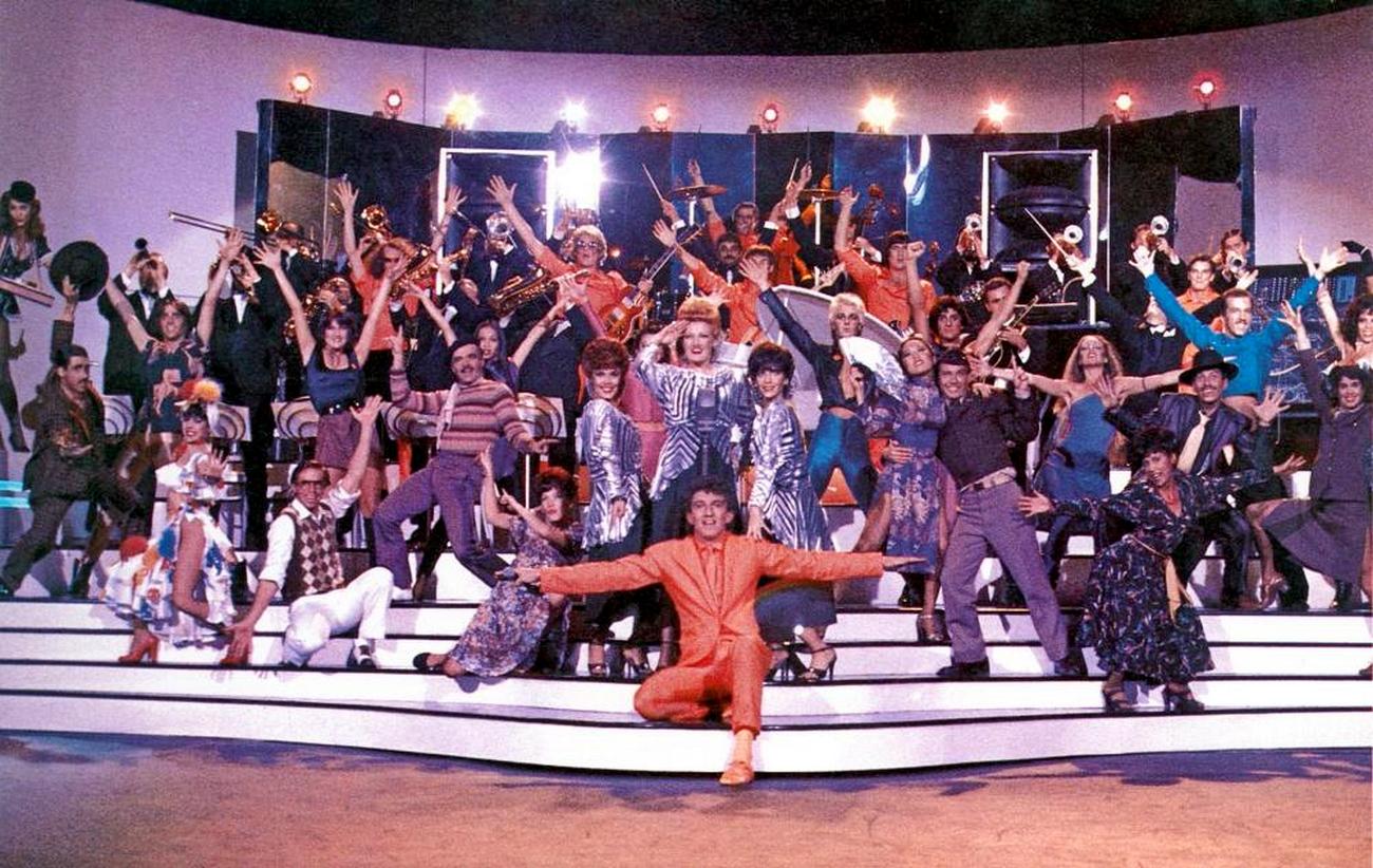 Rick Anderson, Michael Cotten, Prairie Prince, Bill Spooner, Roger Steen, and Vince Welnick in Xanadu (1980)
