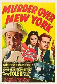 Robert Lowery, Sidney Toler, and Marjorie Weaver in Murder Over New York (1940)