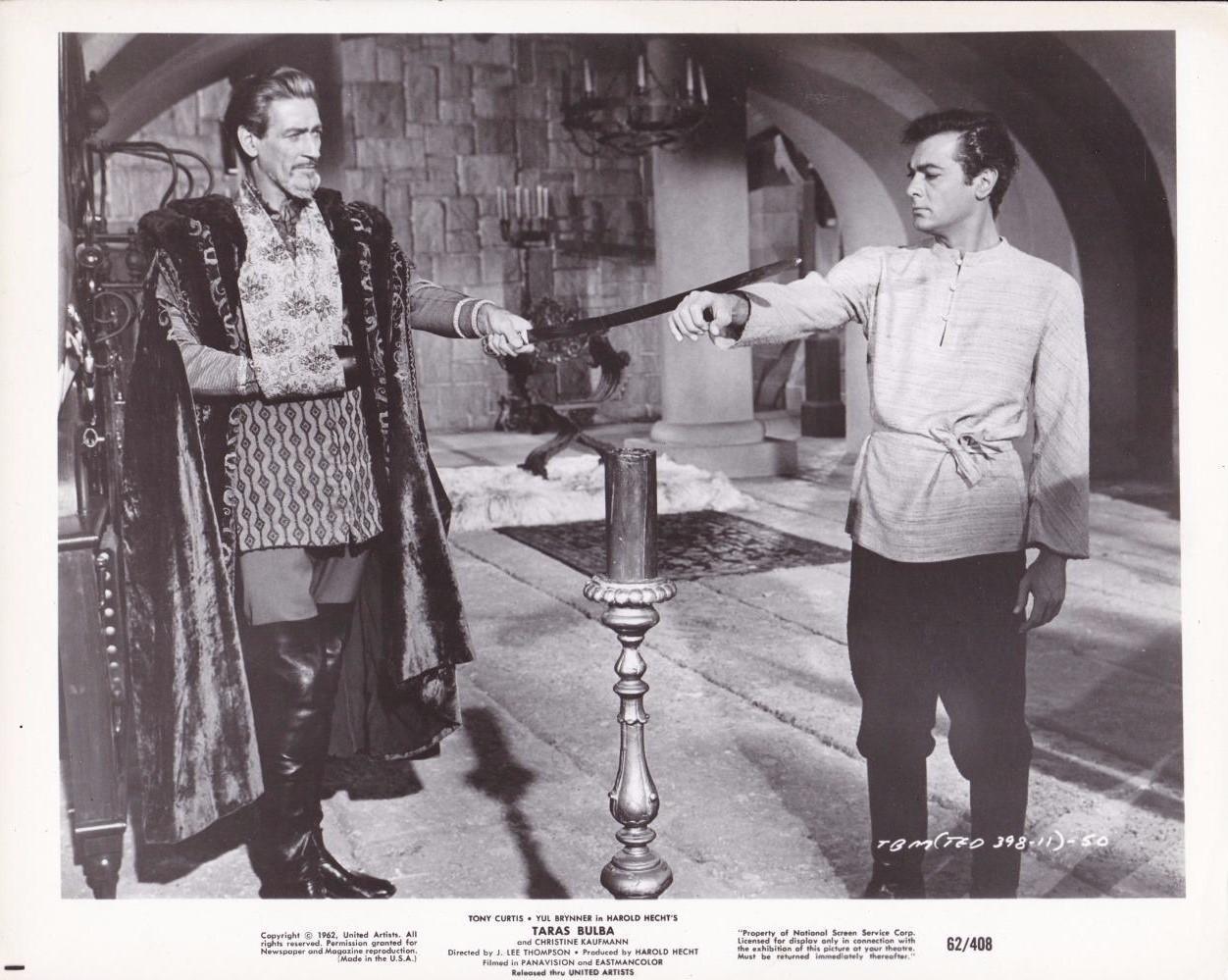 Tony Curtis and Guy Rolfe in Taras Bulba (1962)