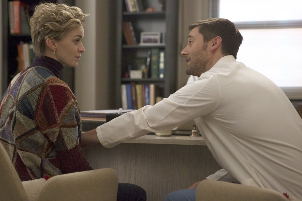 Ryan Eggold and Lisa O'Hare in New Amsterdam (2018)