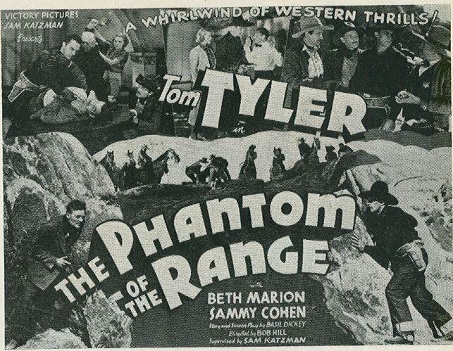 Sammy Cohen, Soledad Jiménez, Charles King, Beth Marion, Forrest Taylor, and Tom Tyler in The Phantom of the Range (1936)