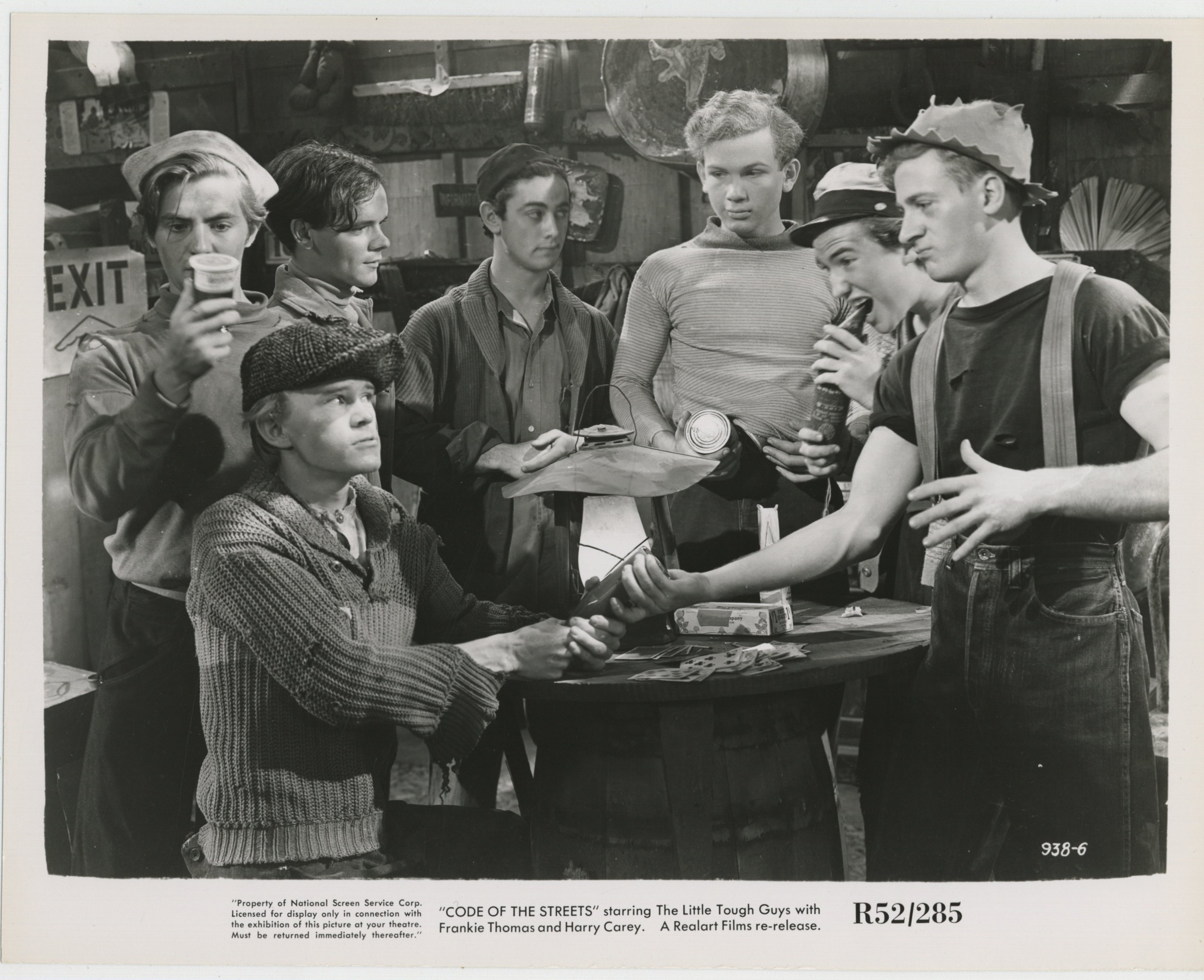 William 'Billy' Benedict, Harris Berger, Hal E. Chester, Mark Daniels, Charles Duncan, David Gorcey, James McCallion, and Frankie Thomas in Code of the Streets (1939)