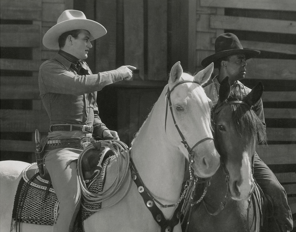 John Wayne, Blue Washington, and Duke in Haunted Gold (1932)