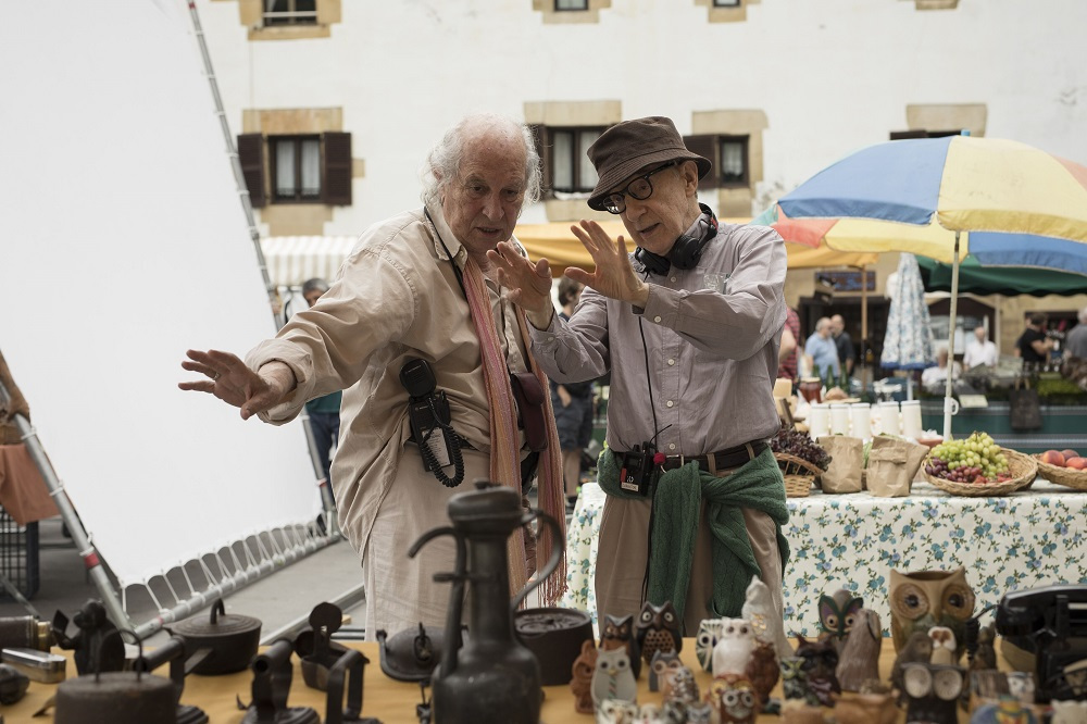 Vittorio Storaro con Woody Allen en Rifkins Festival