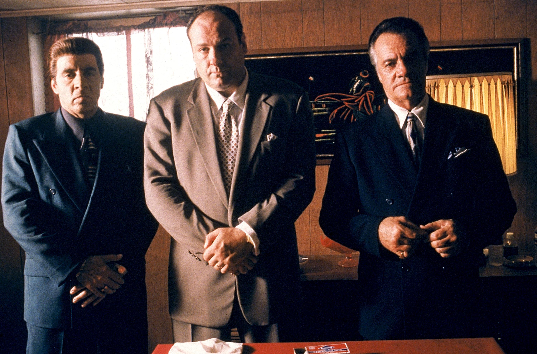 James Gandolfini, Steven Van Zandt, and Tony Sirico in The Sopranos (1999)