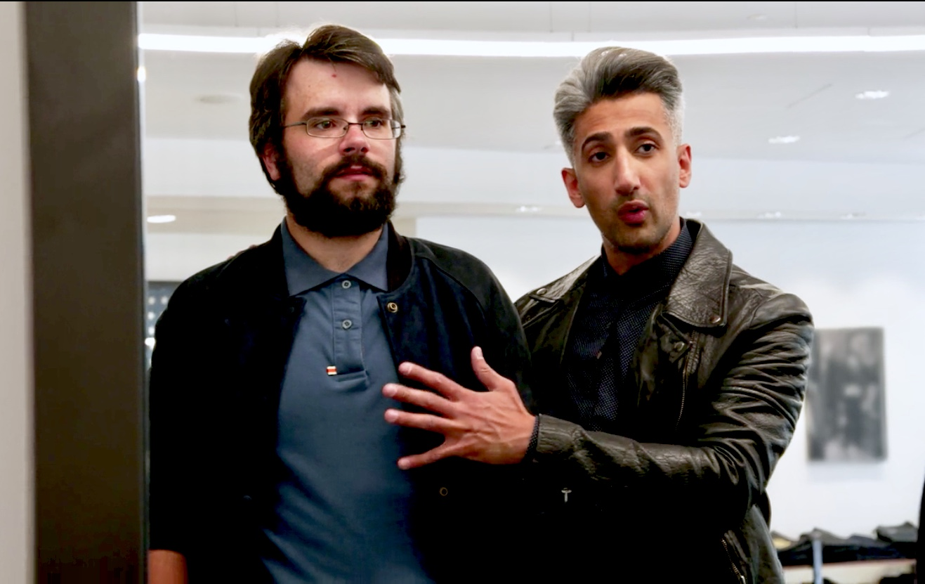 Joe Gallois and Tan France in Queer Eye (2018)