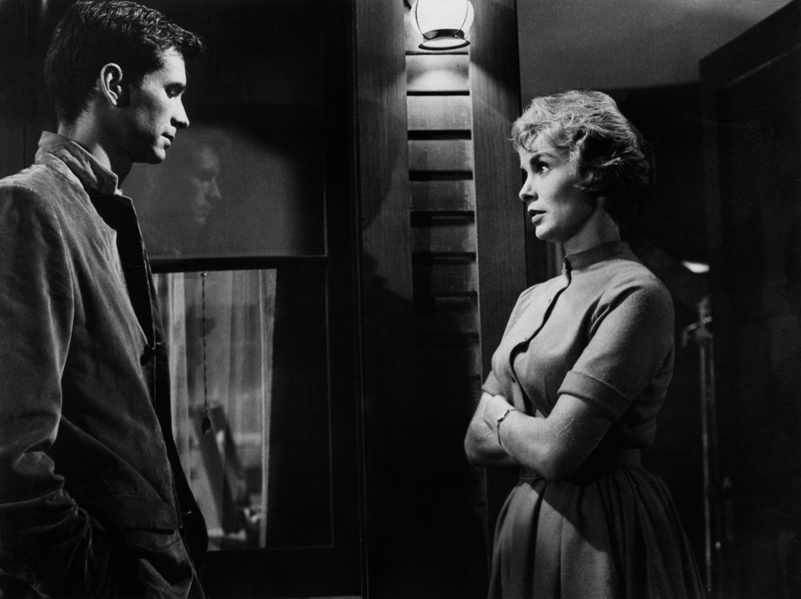 Anthony Perkins and Janet Leigh in Psycho (1960)