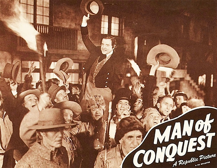 Frank O'Connor, William Desmond, Richard Dix, George J. Lewis, and Guy Wilkerson in Man of Conquest (1939)