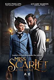 Stuart Martin and Kate Phillips in Miss Scarlet and the Duke (2020)