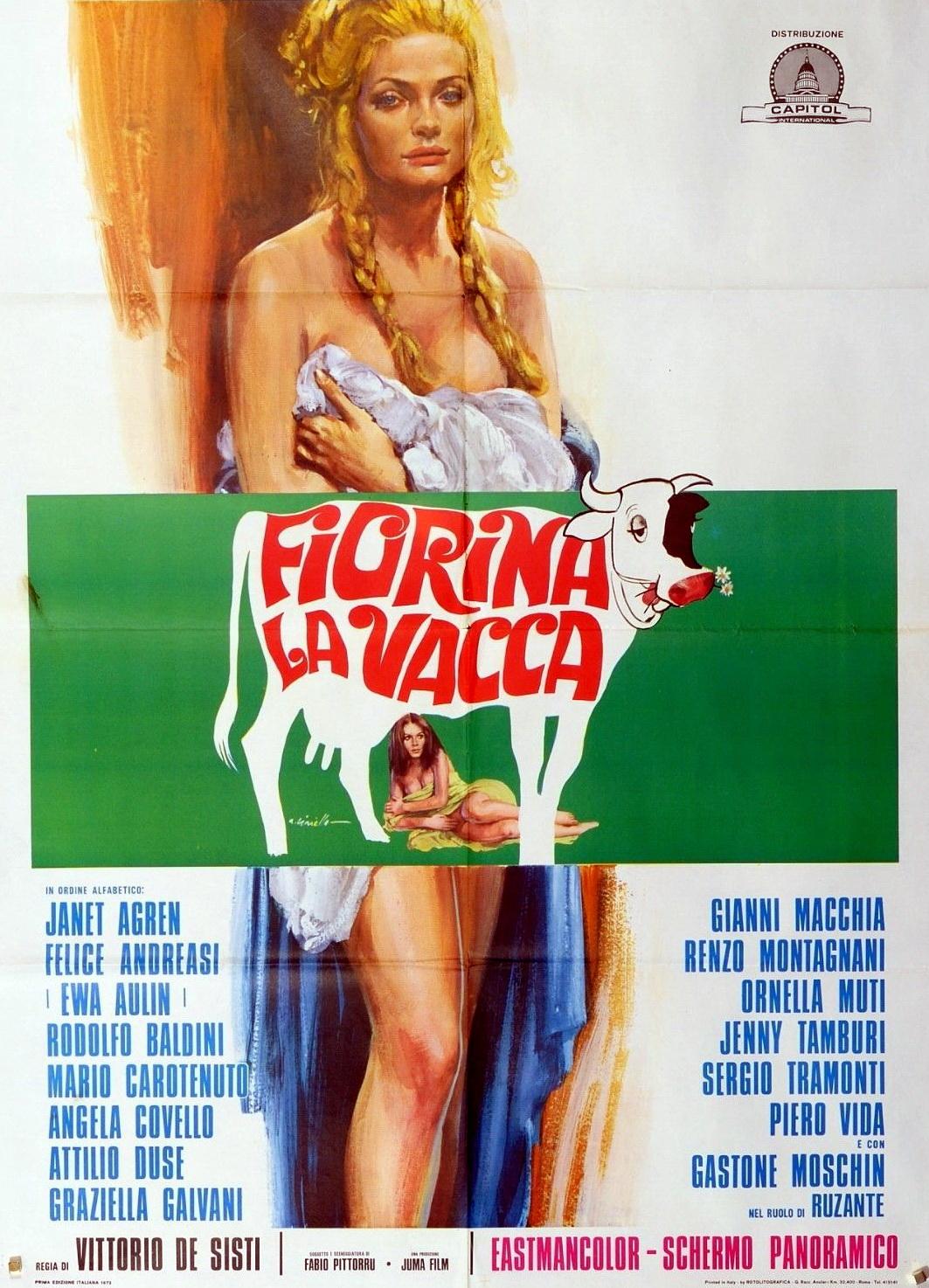 Ewa Aulin and Angela Covello in Fiorina la vacca (1973)