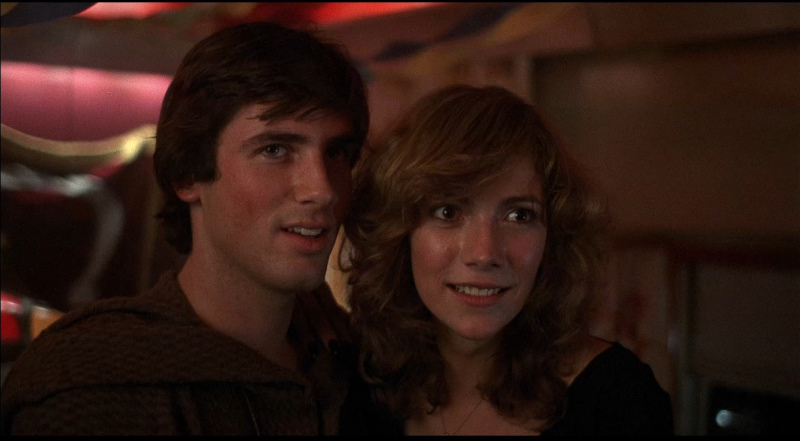 Hart Bochner and Sandee Currie in Terror Train (1980)