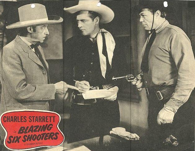 Al Bridge, Dick Curtis, and Charles Starrett in Blazing Six Shooters (1940)