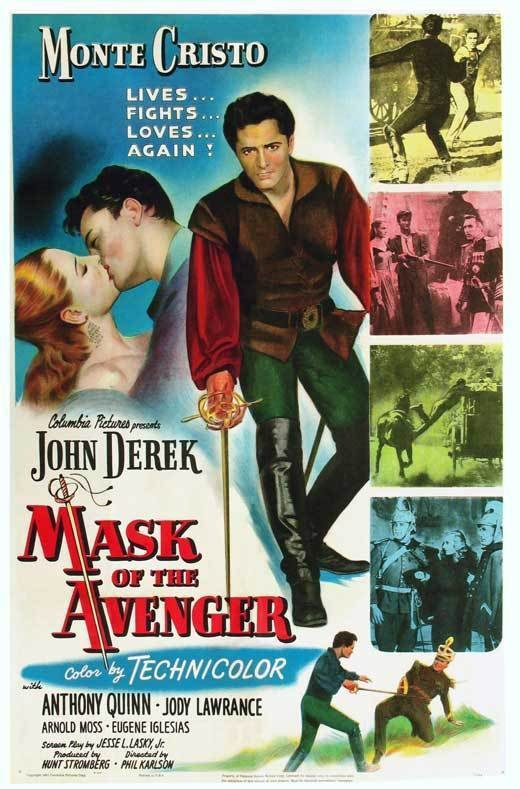 Anthony Quinn, John Derek, and Jody Lawrance in Mask of the Avenger (1951)