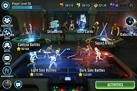 star wars galaxy of heroes requirements