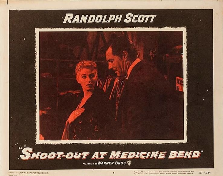 James Craig and Dani Crayne in Shoot-Out at Medicine Bend (1957)