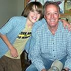 "Brandon on set of ""Smitty"" with Peter Fonda (his grandfather)."