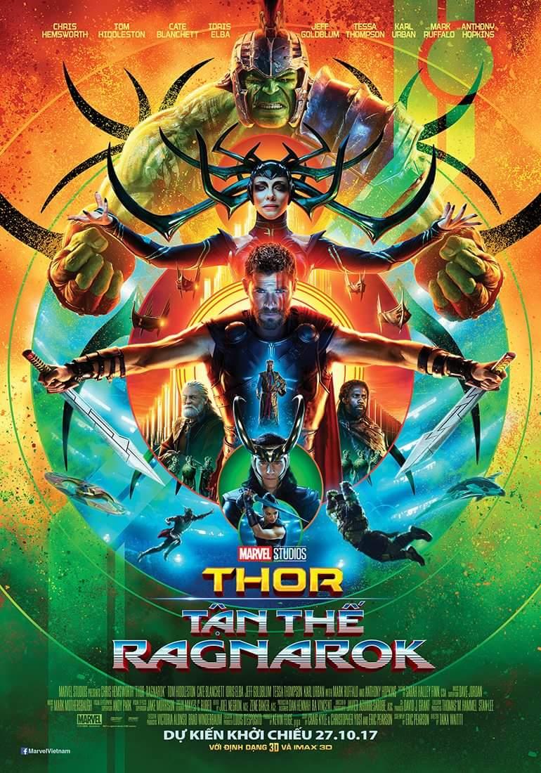 Jeff Goldblum, Anthony Hopkins, Cate Blanchett, Idris Elba, Mark Ruffalo, Tom Hiddleston, Chris Hemsworth, and Tessa Thompson in Thor: Ragnarok (2017)