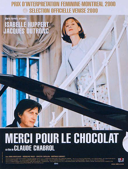 Isabelle Huppert and Jacques Dutronc in Merci pour le chocolat (2000)