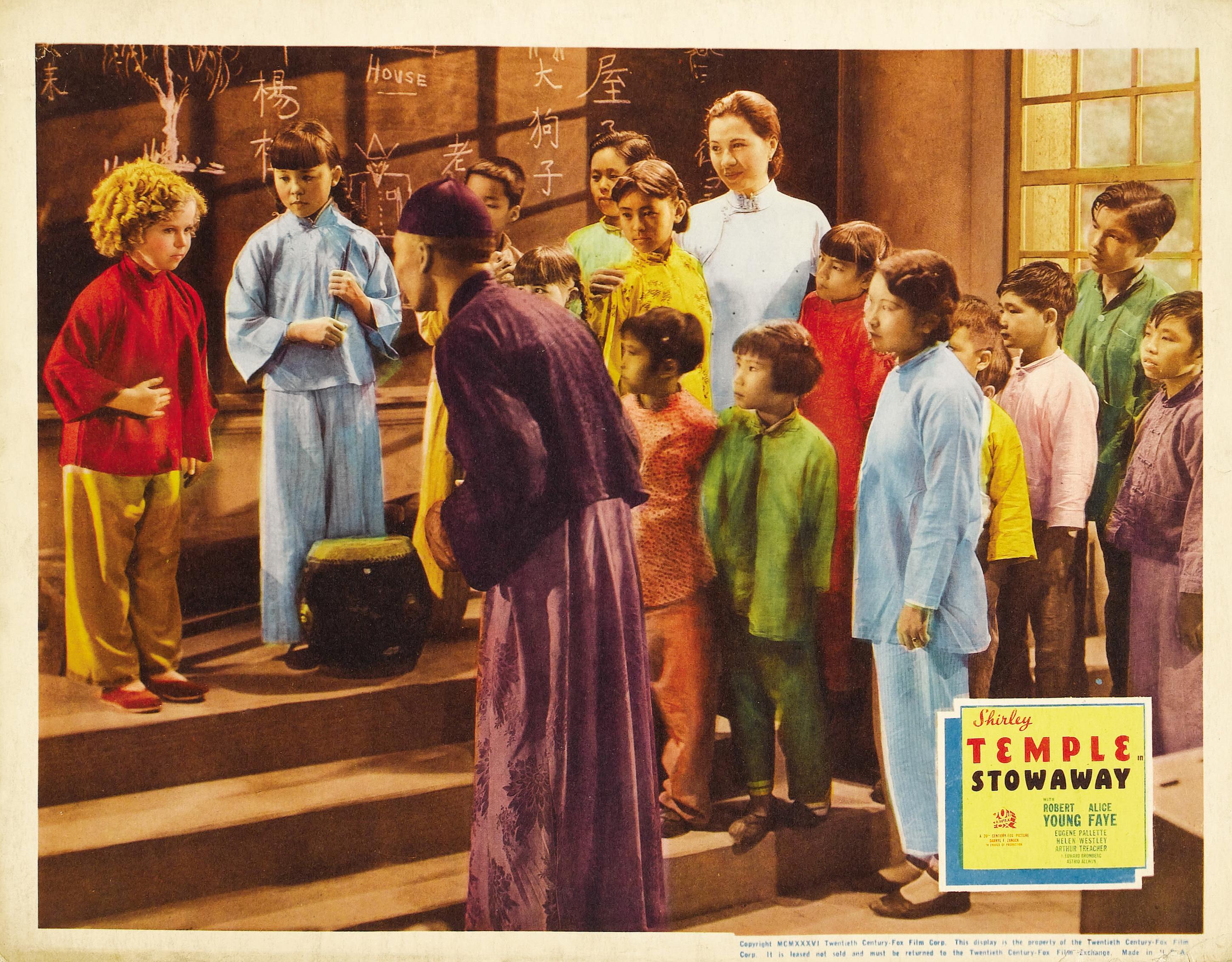 Shirley Temple, Philip Ahn, Layne Tom Jr., and Sammee Tong in Stowaway (1936)