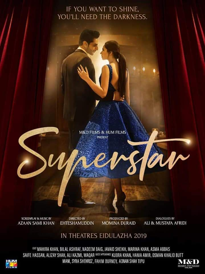 Mahira Khan and Bilal Ashraf in Superstar (2019)