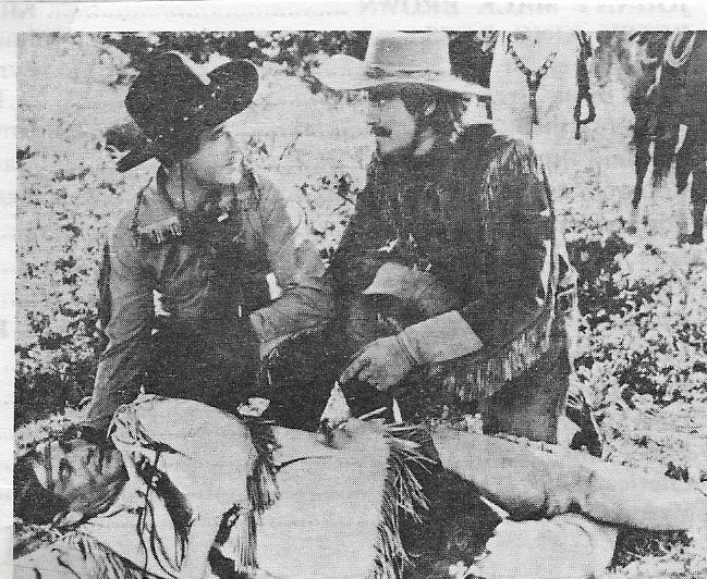 Johnny Mack Brown, Jack Rutherford, and Chief Thundercloud in Flaming Frontiers (1938)