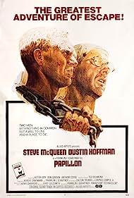 Dustin Hoffman and Steve McQueen in Papillon (1973)
