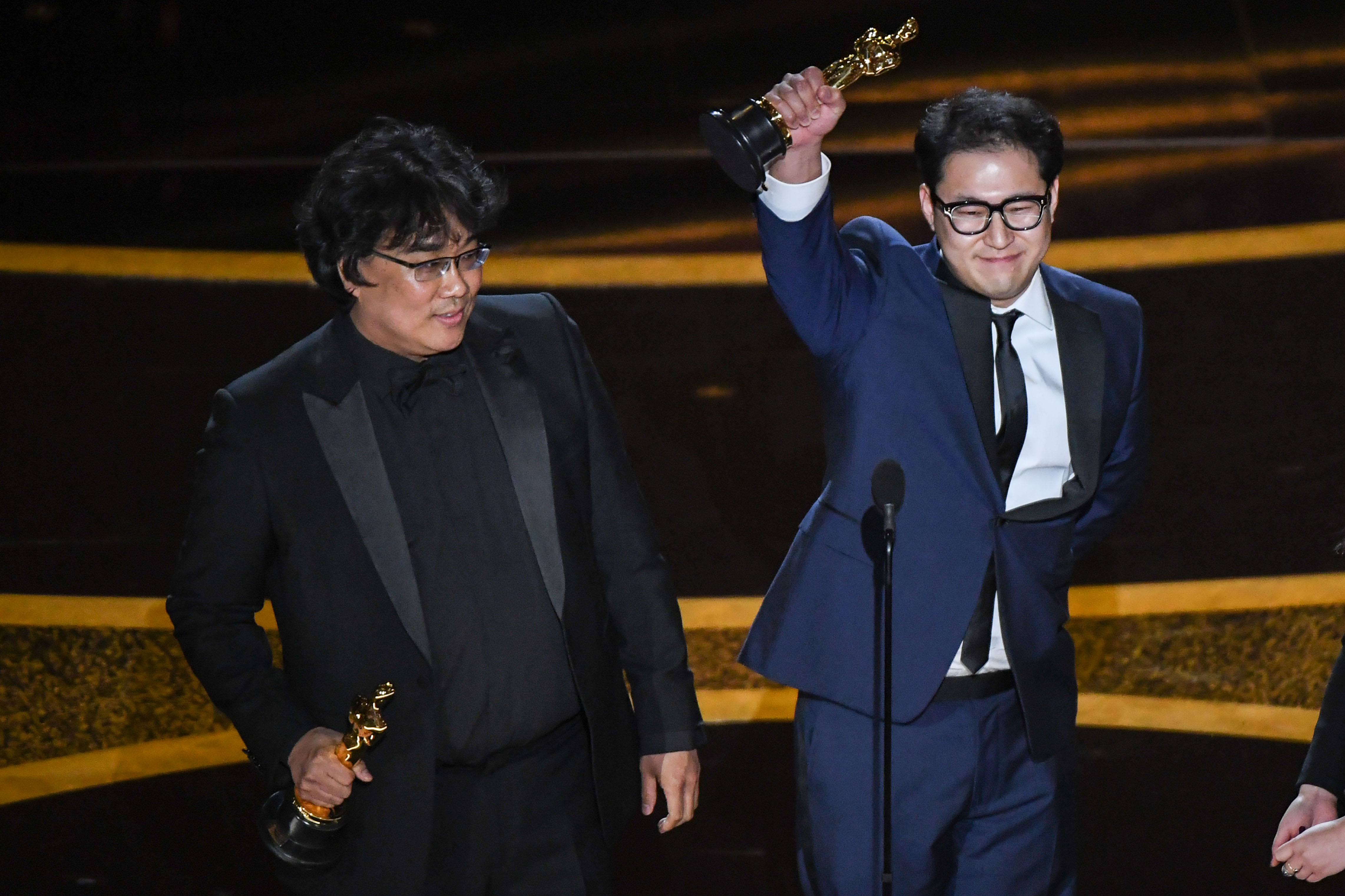 Bong Joon Ho and Jin-won Han at an event for The Oscars (2020)