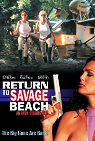 Julie Strain, Shae Marks, and Julie K. Smith in L.E.T.H.A.L. Ladies: Return to Savage Beach (1998)