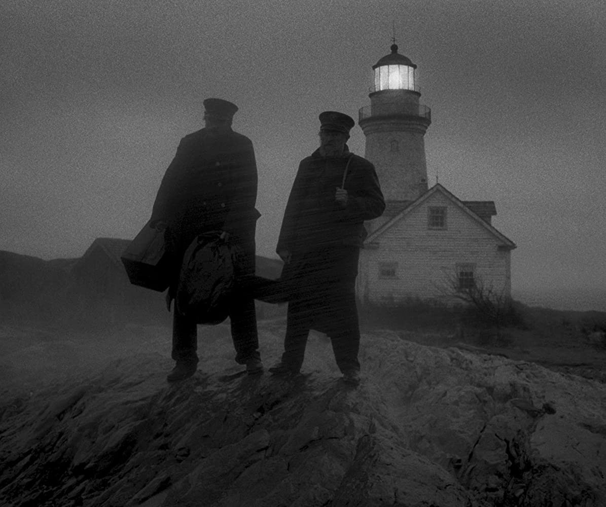 Willem Dafoe and Robert Pattinson in The Lighthouse (2019)