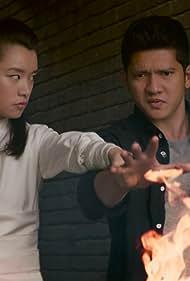 Celia Au and Iko Uwais in Wu Assassins (2019)