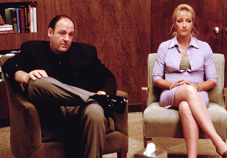 James Gandolfini and Edie Falco in The Sopranos (1999)