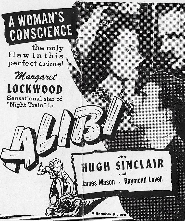 James Mason, Margaret Lockwood, and Hugh Sinclair in Alibi (1942)