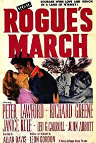 Richard Greene, Peter Lawford, and Janice Rule in Rogue's March (1953)