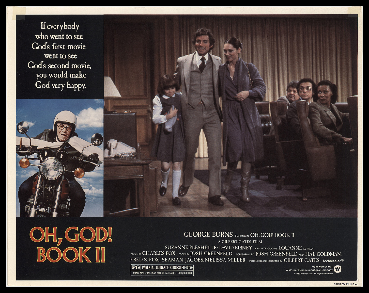 David Birney, Louanne, and Suzanne Pleshette in Oh, God! Book II (1980)