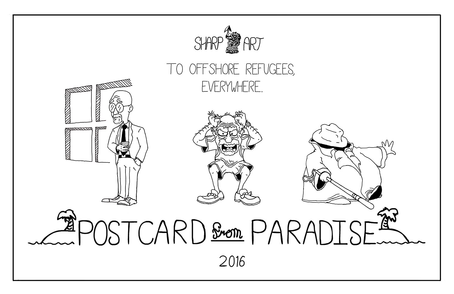 Black And White Postcard From >> Postcard From Paradise 2016
