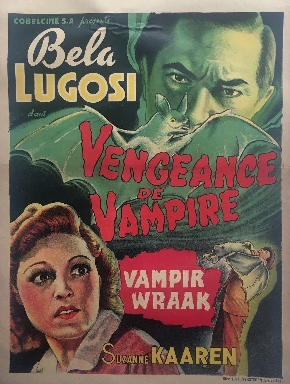 Bela Lugosi and Suzanne Kaaren in The Devil Bat (1940)